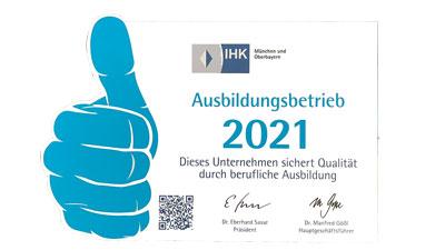 IHK München Ausbildungsbetrieb 2020 Fachkraft für Veranstaltungstechnik