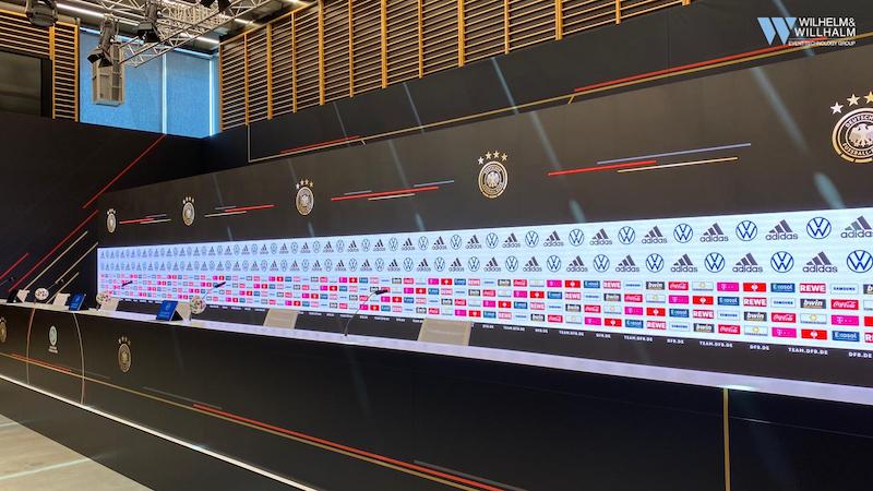Digitaler LED Backdrop DFB Euro2020 wwvt-wilhelm-willhalm-veranstaltungstechnik-event-technology