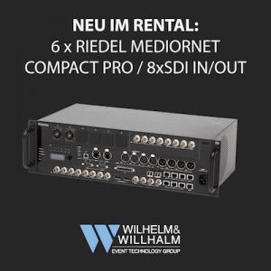 Neu im Rental: 6 x Riedel Mediornet Compact Pro Frames mit MN-C-OPT-SDI-4I4O Karten (4 x SDI in/out, damit insgesamt dann 8 x DSI in/out) Anfragen gerne an: dispo@wwvt.de #wwvt #dryhire #riedel #mediornet #compactpro
