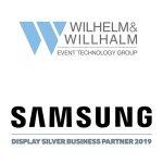 Samsung Display Silver Business Partner 2019 - Wilhelm & Willhalm event technology group Veranstaltungstechnik