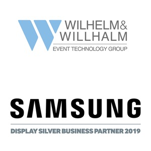 Samsung Display Silver Business Partner 2019 - Wilhelm & Willhalm event technology group Veranstaltungstechnik